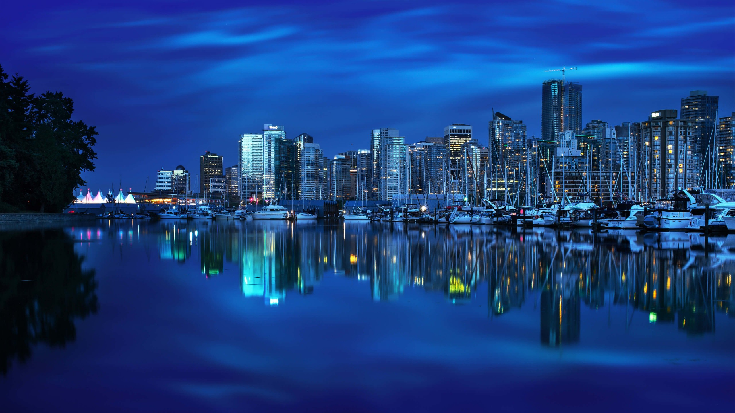 Coal Harbour Marina, Vancouver Wallpaper for Desktop 2560x1440
