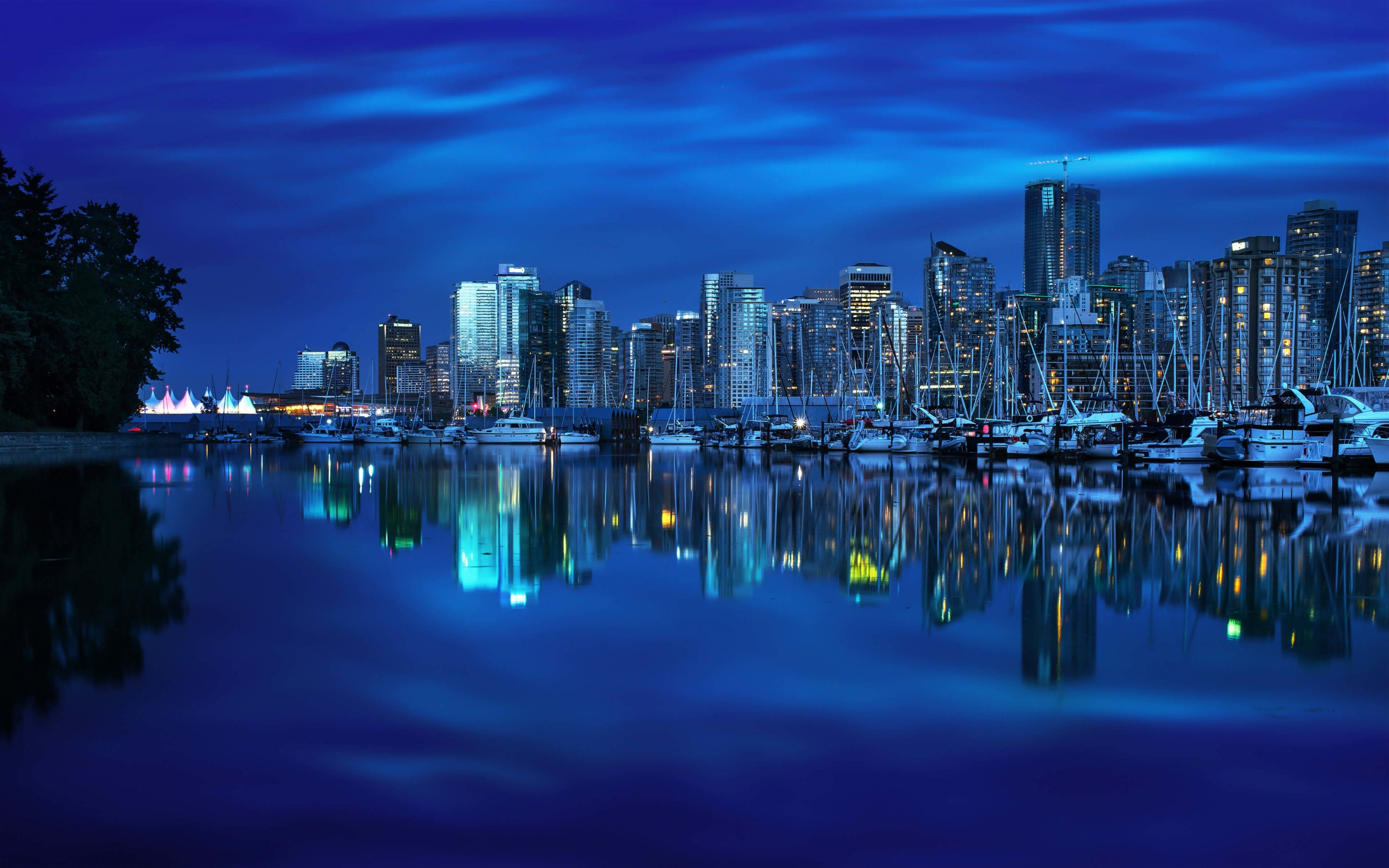 Coal Harbour Marina, Vancouver Wallpaper for Desktop 2880x1800