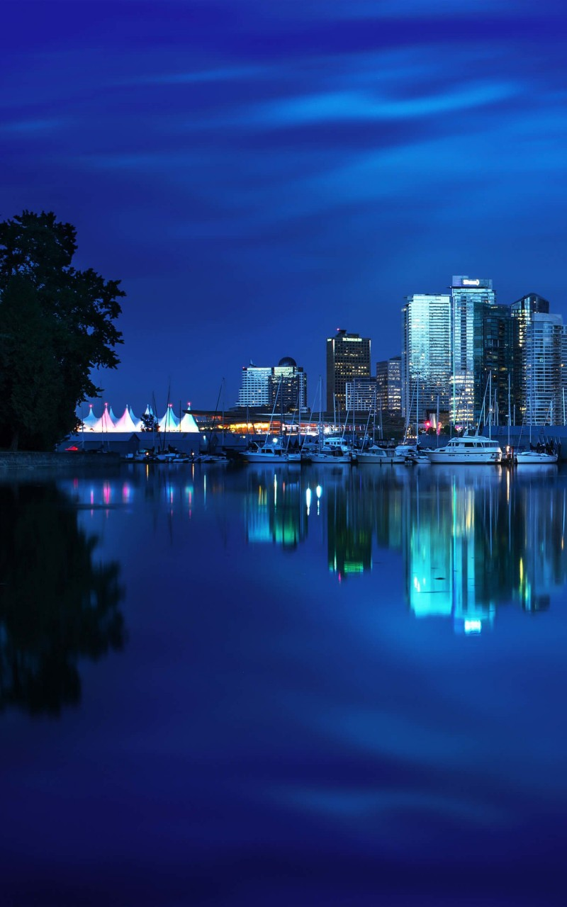 Coal Harbour Marina, Vancouver Wallpaper for Amazon Kindle Fire HD
