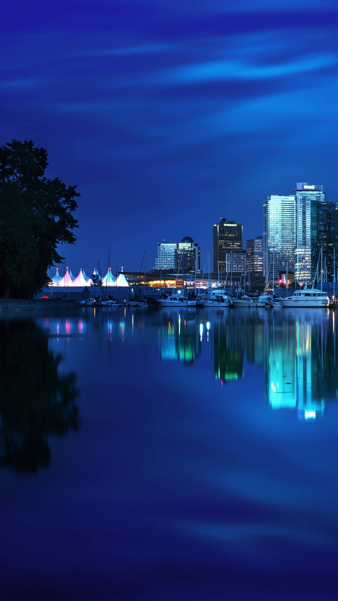 Coal Harbour Marina, Vancouver Wallpaper for SONY Xperia Z2