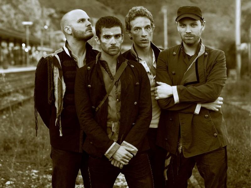 Coldplay Band Sepia Wallpaper for Desktop 800x600