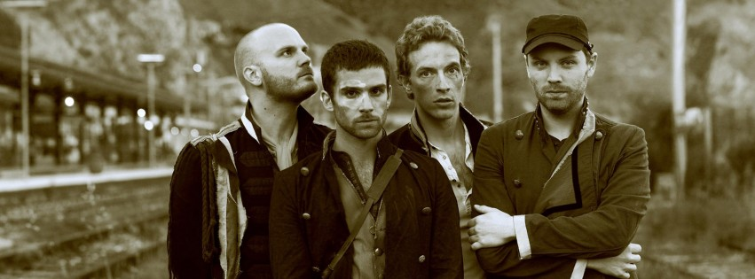 Coldplay Band Sepia Wallpaper for Social Media Facebook Cover
