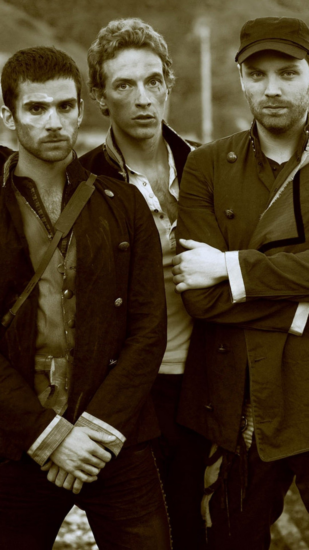 Coldplay Band Sepia Wallpaper for SAMSUNG Galaxy S4