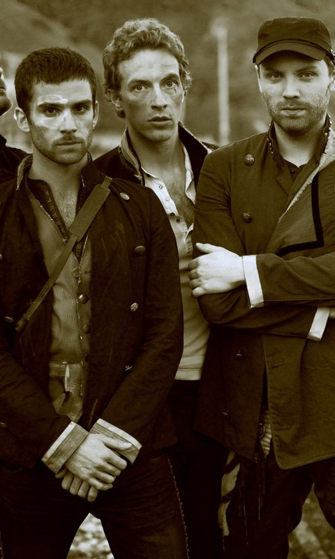 Coldplay Band Sepia Wallpaper for HTC Desire HD