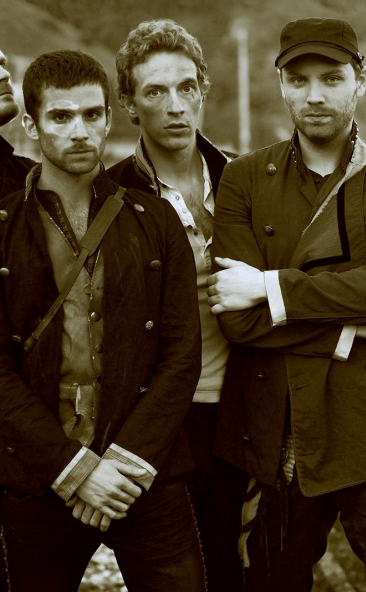 Coldplay Band Sepia Wallpaper for Apple iPhone 4 / 4s