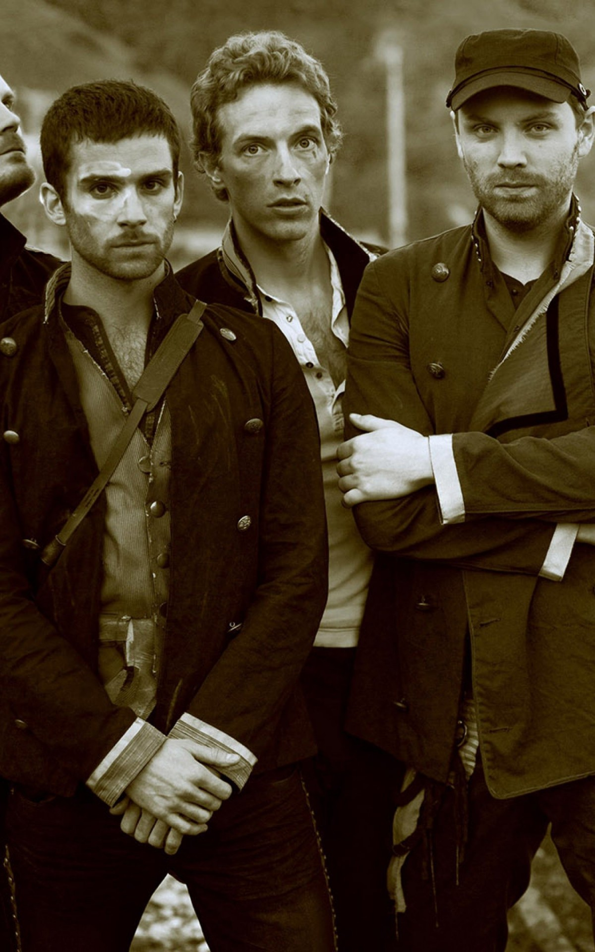 Coldplay Band Sepia Wallpaper for Amazon Kindle Fire HDX
