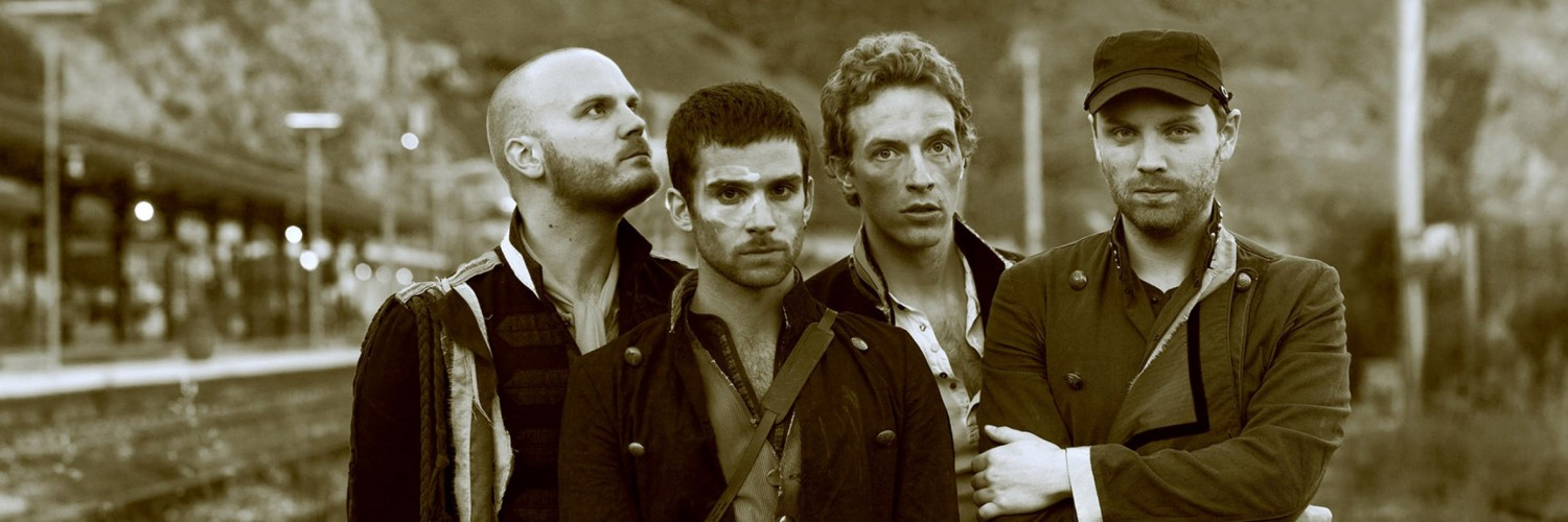 Coldplay Band Sepia Wallpaper for Social Media Twitter Header