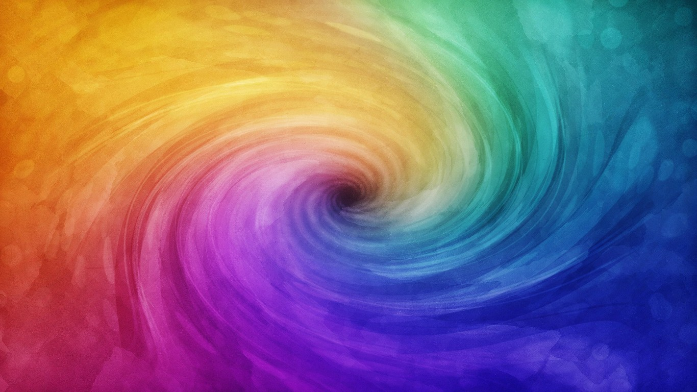 Color Vortex Wallpaper for Desktop 1366x768