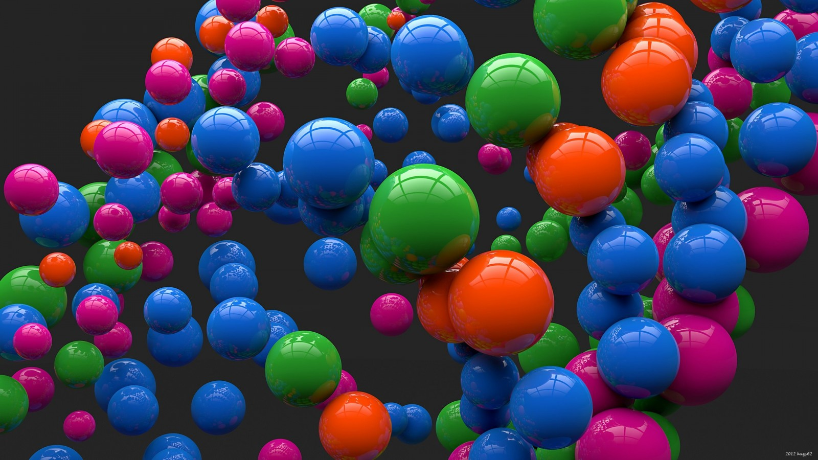 Colorful Balls Wallpaper for Desktop 1600x900