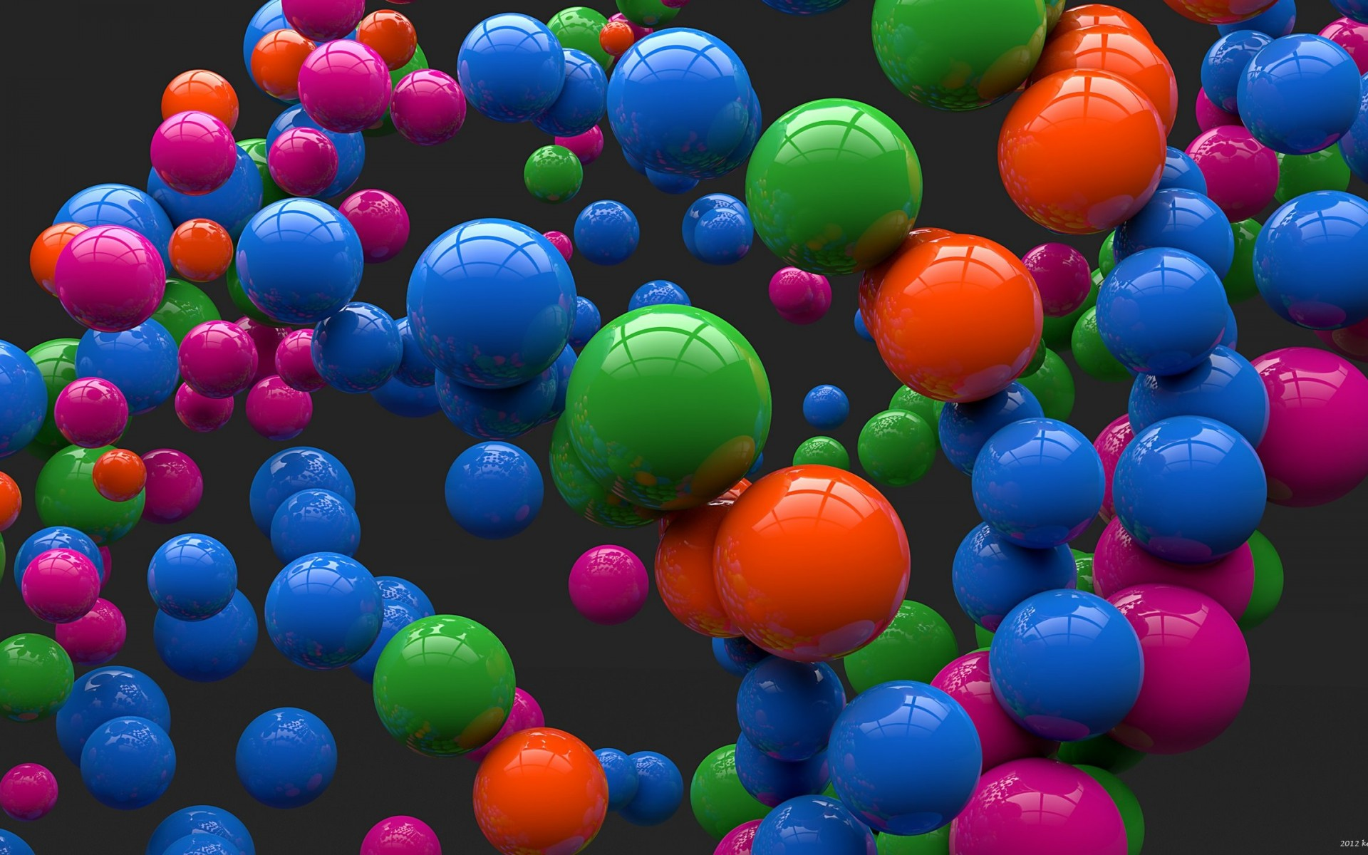 Colorful Balls Wallpaper for Desktop 1920x1200