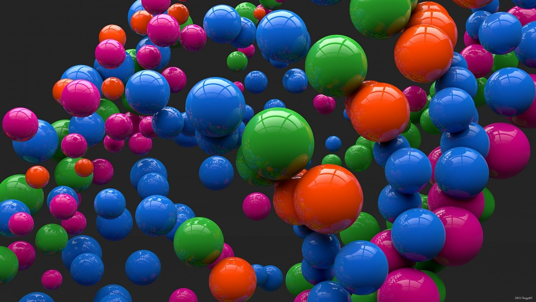 Colorful Balls Wallpaper for Social Media Google Plus Cover