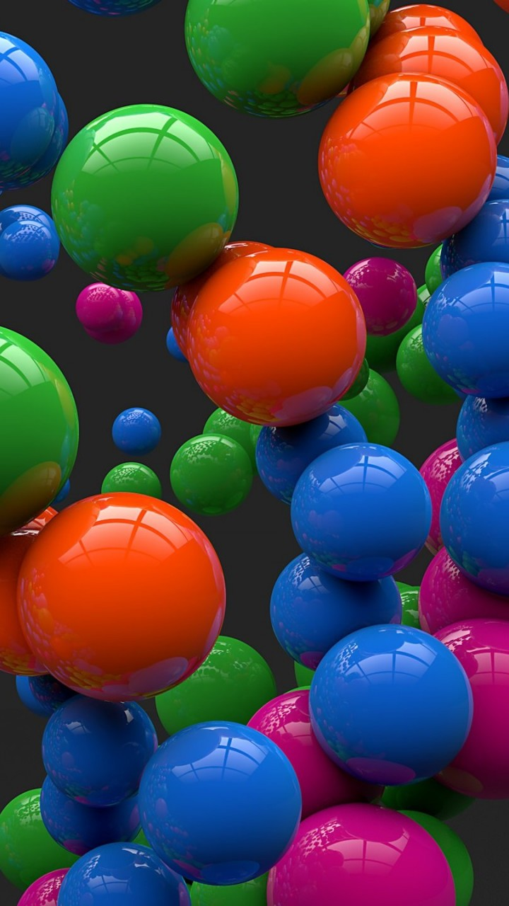 Colorful Balls Wallpaper for HTC One mini