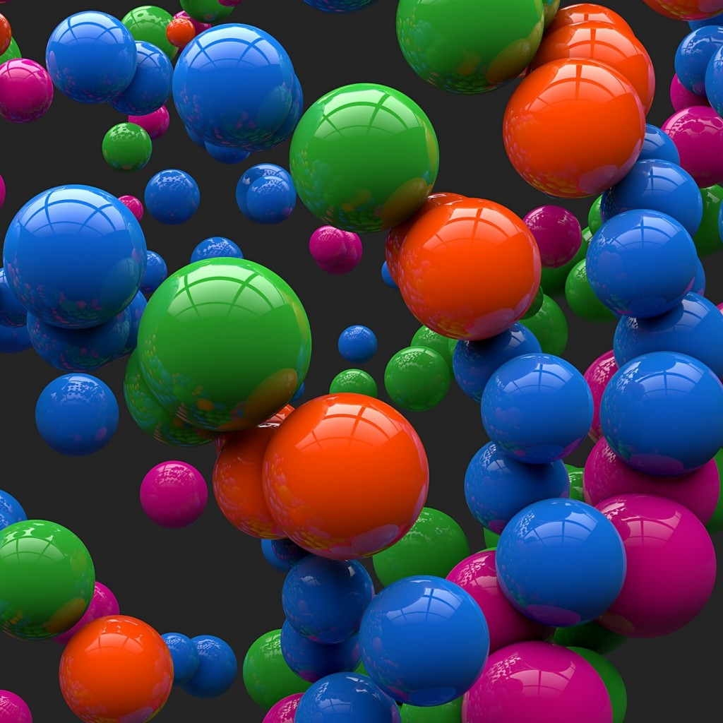 Colorful Balls Wallpaper for Apple iPad