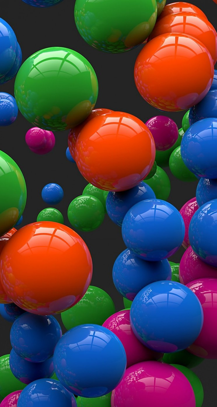 Colorful Balls Wallpaper for Apple iPhone 5 / 5s