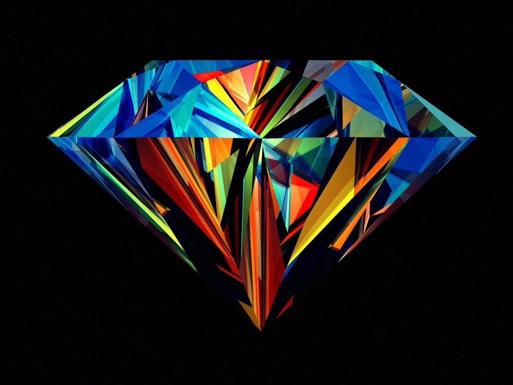 Colorful Diamond Wallpaper for Desktop 1024x768