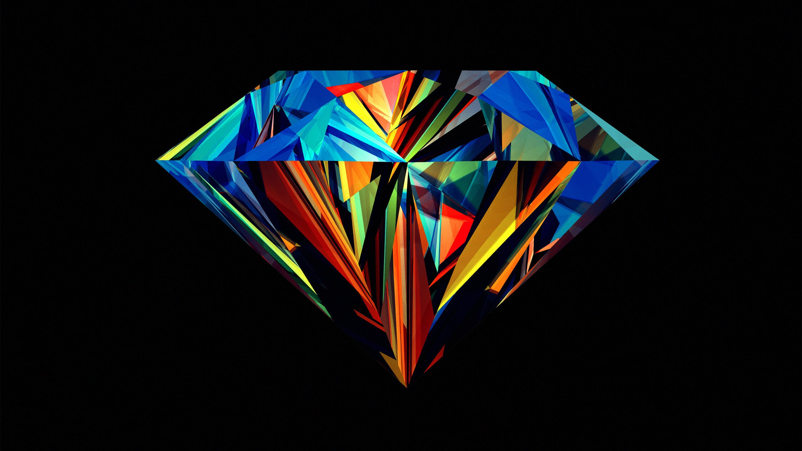 Colorful Diamond Wallpaper for Desktop 2560x1440