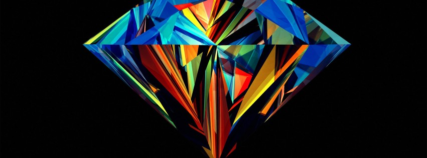 Colorful Diamond Wallpaper for Social Media Facebook Cover