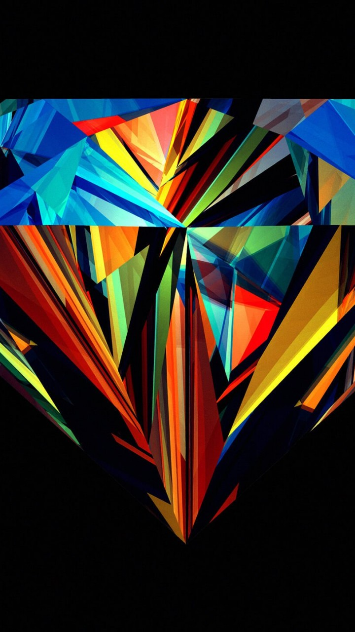 Colorful Diamond Wallpaper for HTC One X