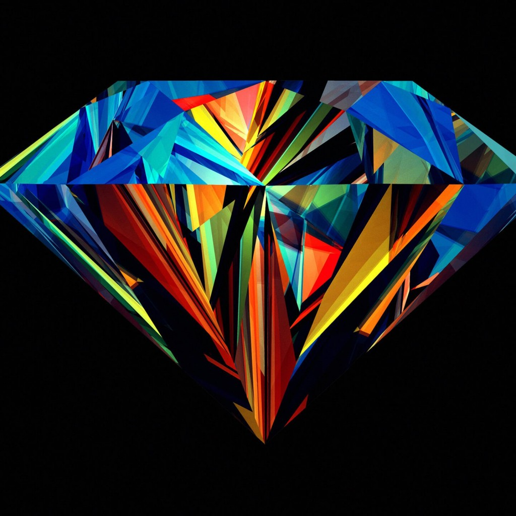 Colorful Diamond Wallpaper for Apple iPad 2