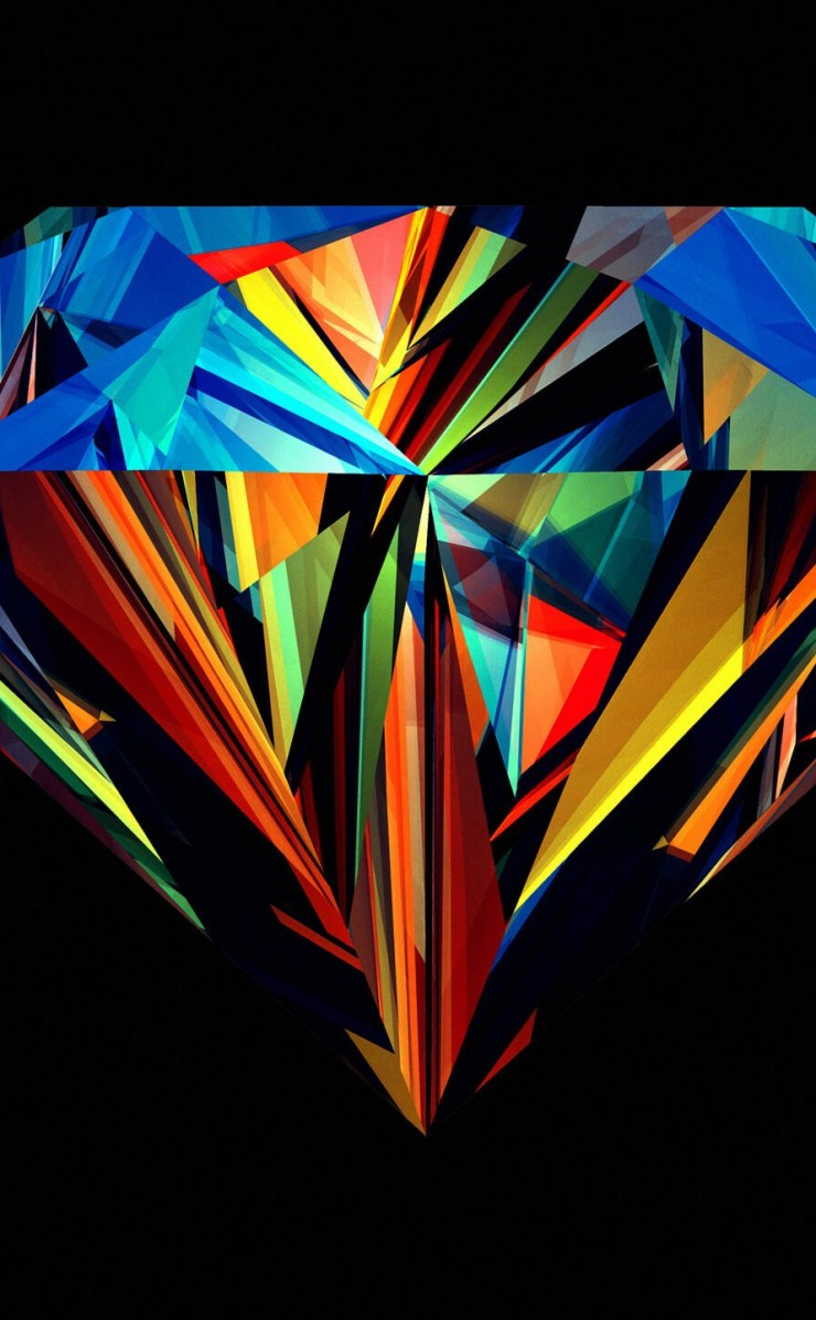 Colorful Diamond Wallpaper for Apple iPhone 4 / 4s