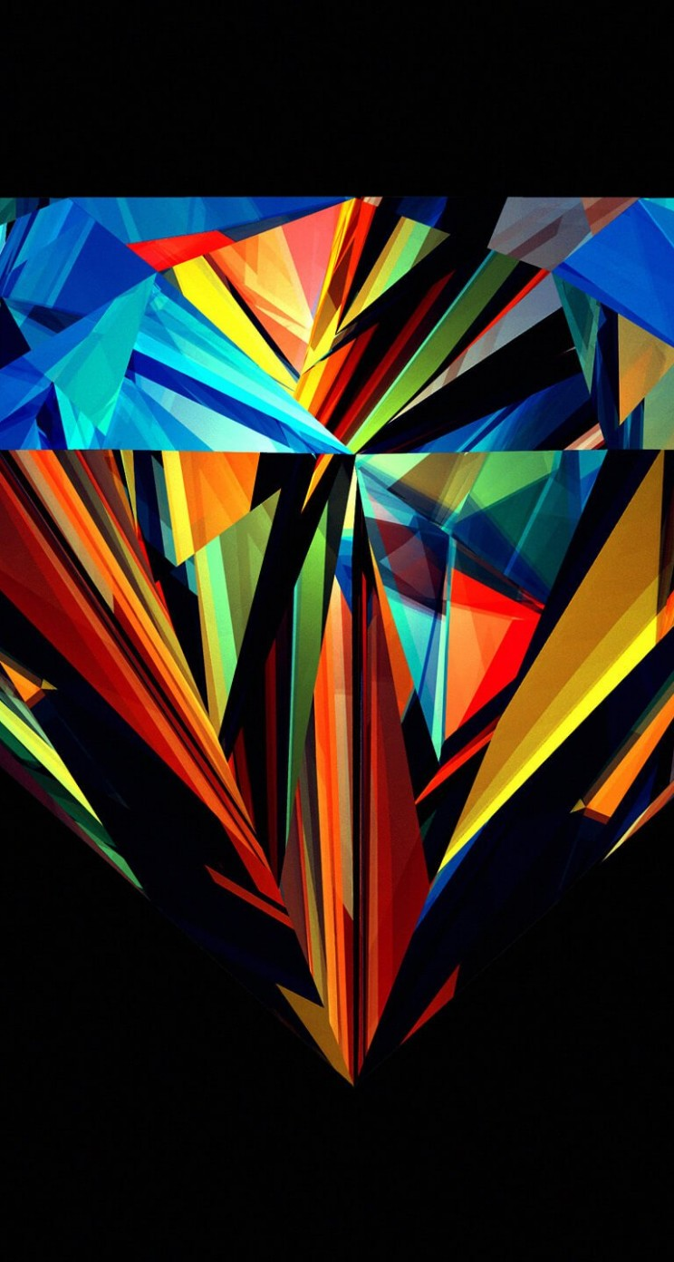 Colorful Diamond Wallpaper for Apple iPhone 5 / 5s