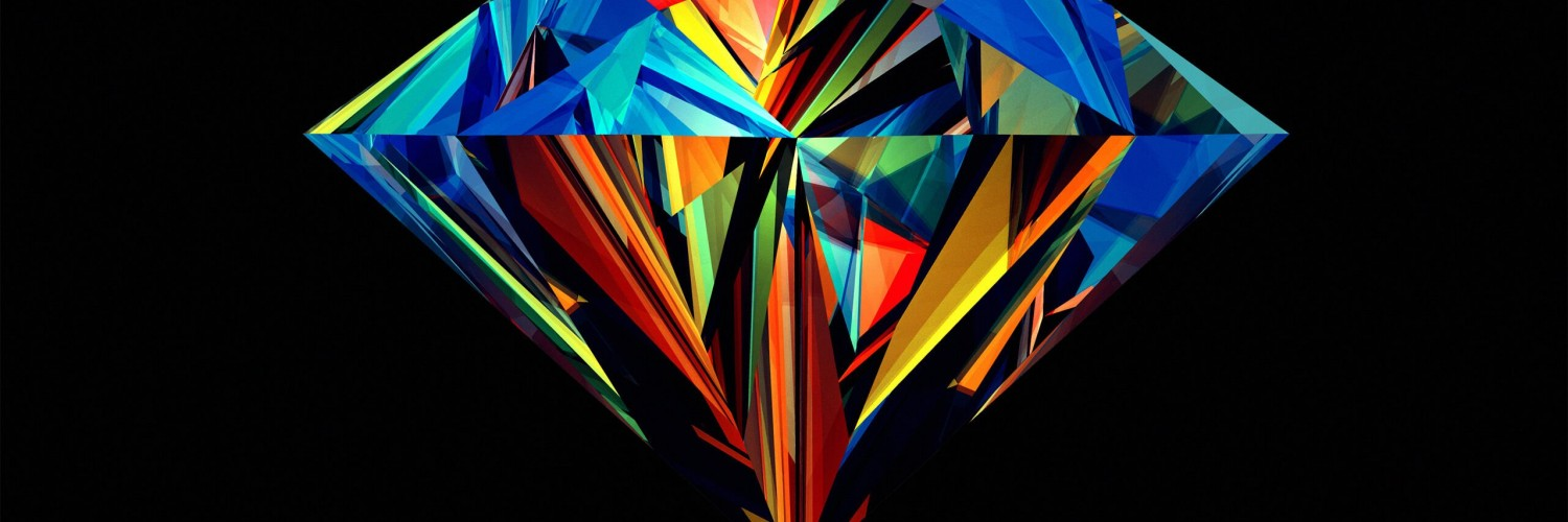 Colorful Diamond Wallpaper for Social Media Twitter Header