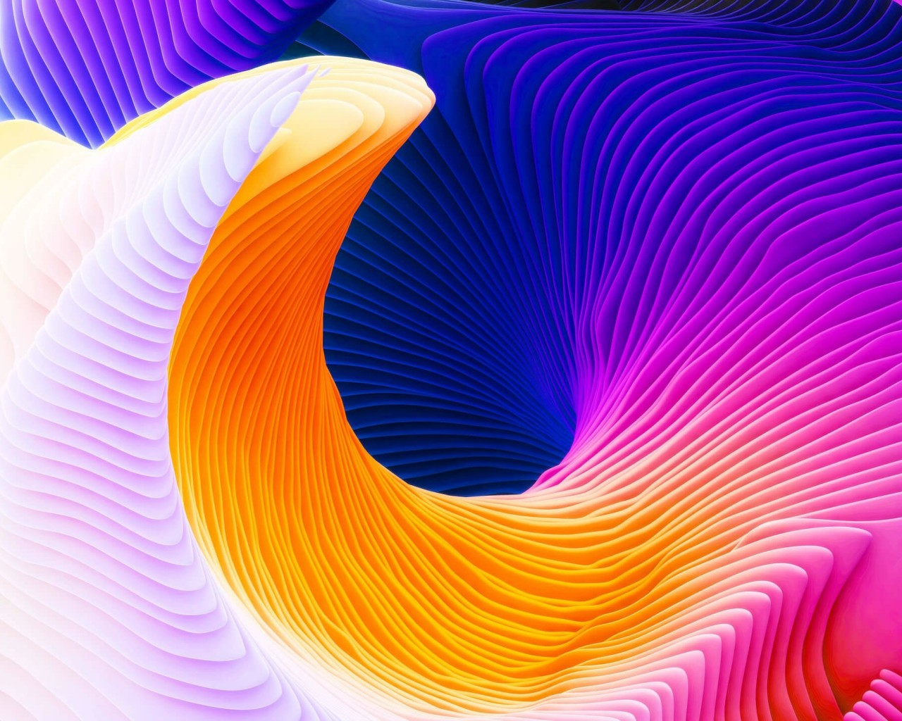 Colorful Spiral Wallpaper for Desktop 1280x1024