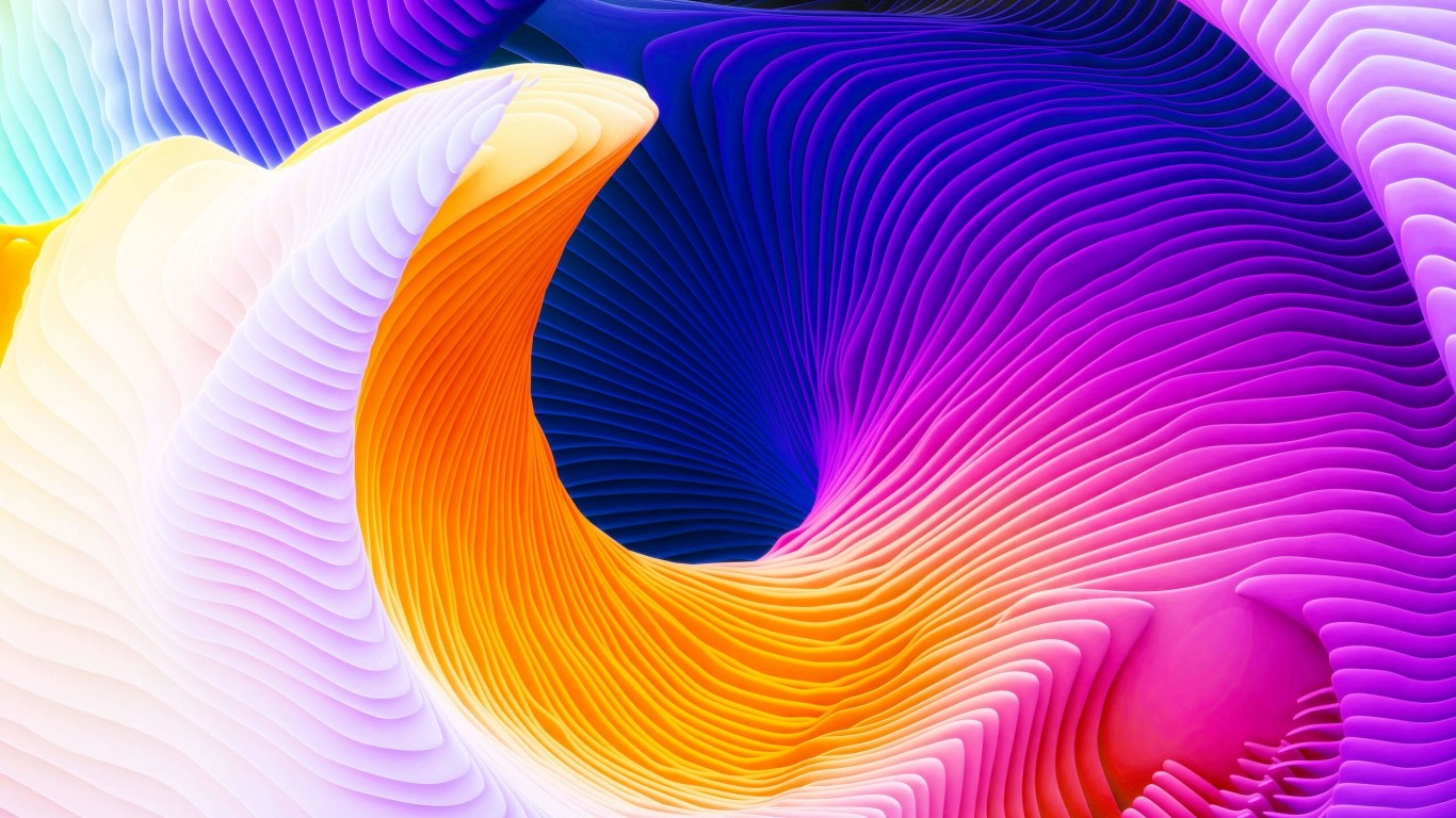 Colorful Spiral Wallpaper for Desktop 1366x768