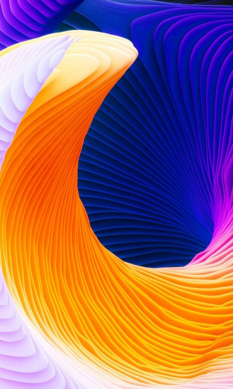 Colorful Spiral Wallpaper for SAMSUNG Galaxy S3 Mini