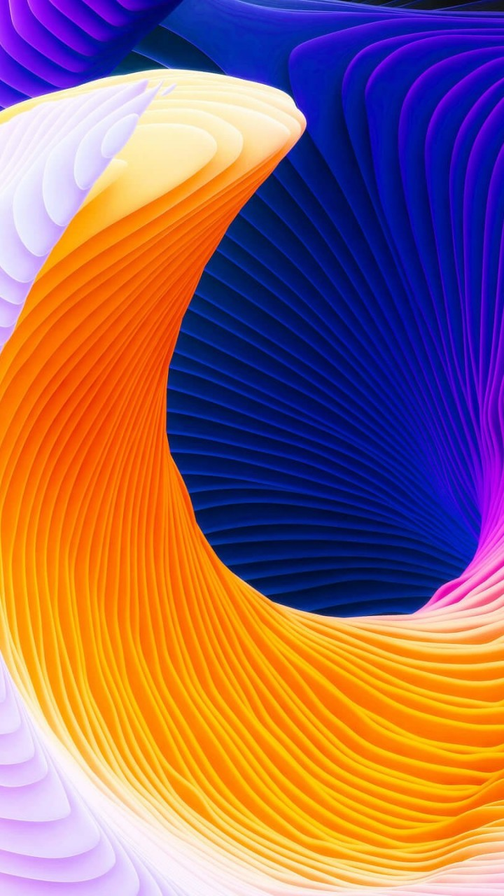 Colorful Spiral Wallpaper for SAMSUNG Galaxy S5 Mini
