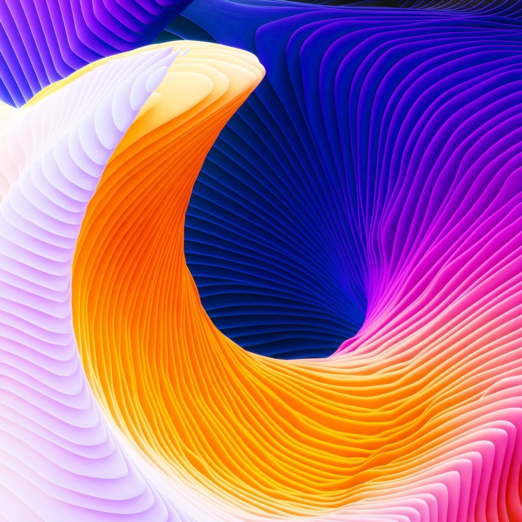 Colorful Spiral Wallpaper for Apple iPad 2