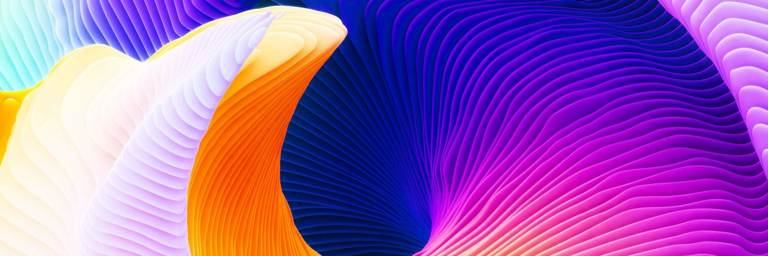 Colorful Spiral Wallpaper for Social Media Twitter Header