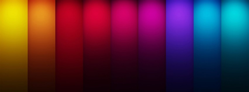 Colorful Stripes Wallpaper for Social Media Facebook Cover