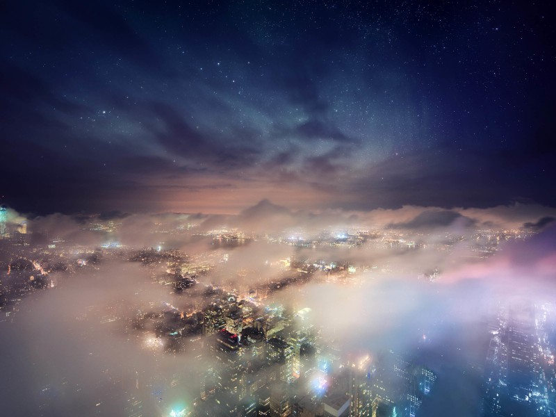 Cosmic New York City Wallpaper for Desktop 800x600