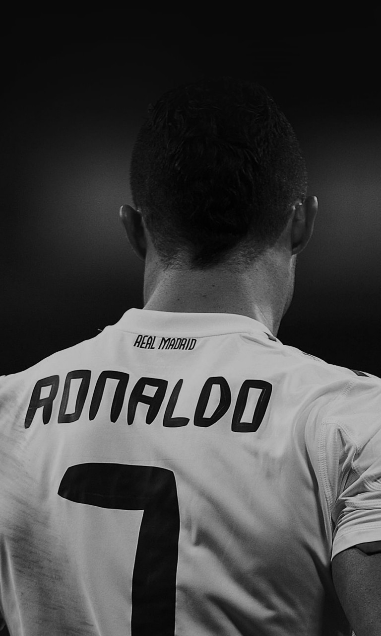 Cristiano Ronaldo in Black & White Wallpaper for Google Nexus 4