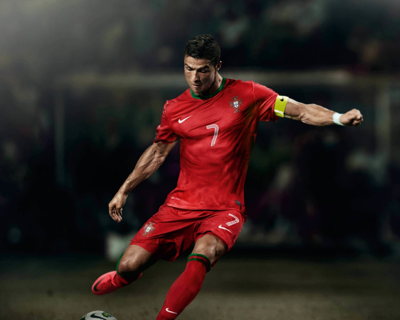 Cristiano Ronaldo In Portugal Jersey Wallpaper for Desktop 1280x1024