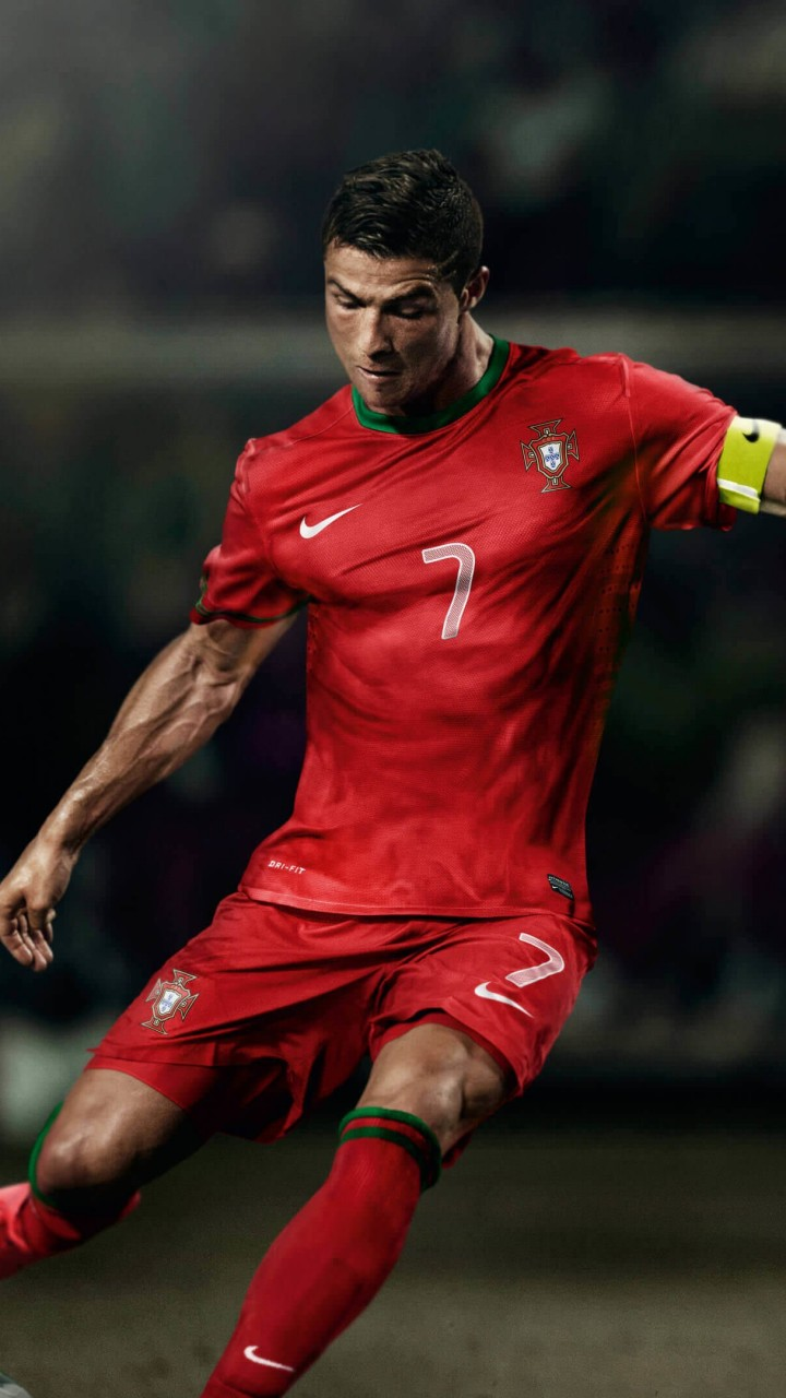 Cristiano Ronaldo In Portugal Jersey Wallpaper for SAMSUNG Galaxy S3