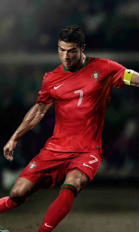 Cristiano Ronaldo In Portugal Jersey Wallpaper for SAMSUNG Galaxy S3 Mini