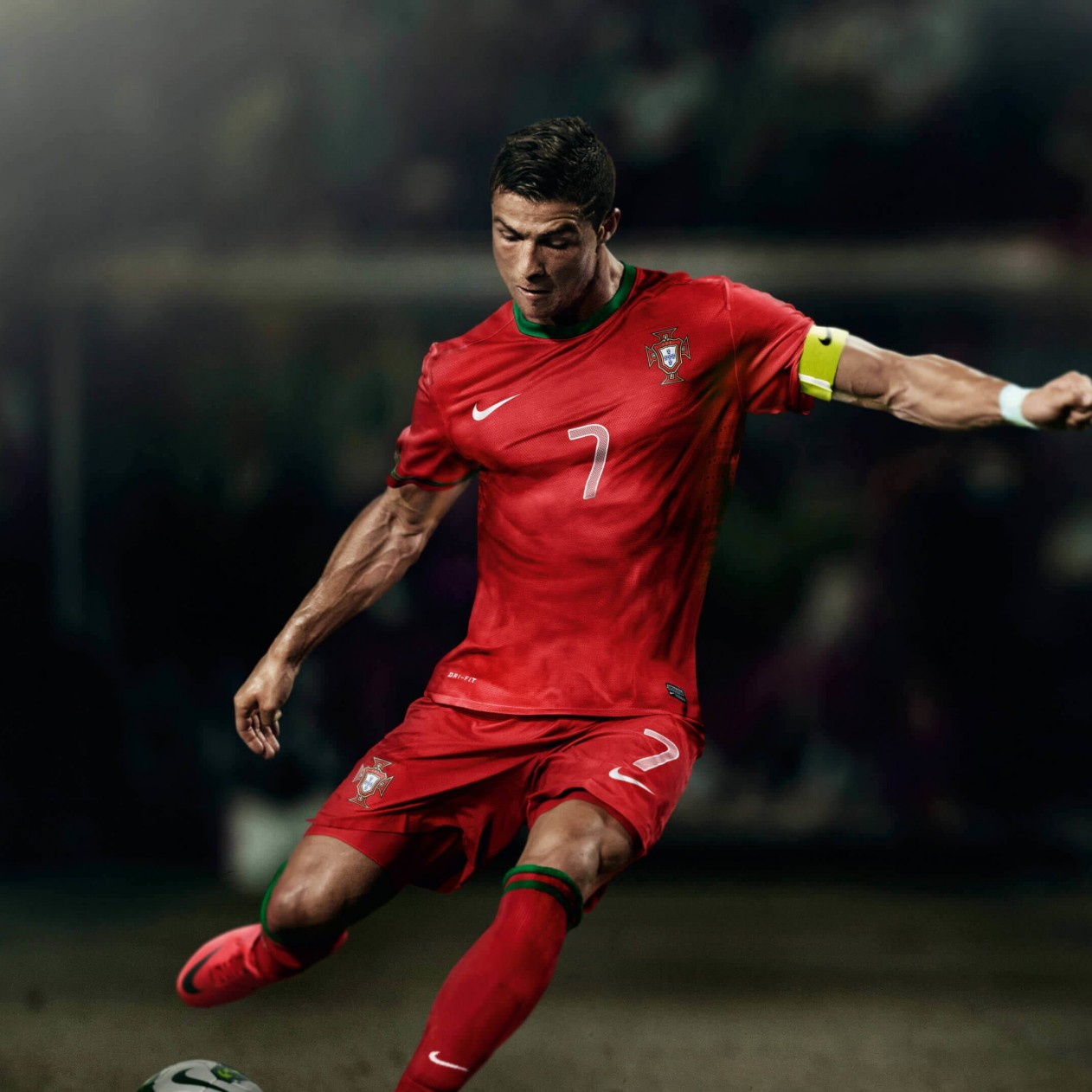 Cristiano Ronaldo In Portugal Jersey Wallpaper for Apple iPad mini
