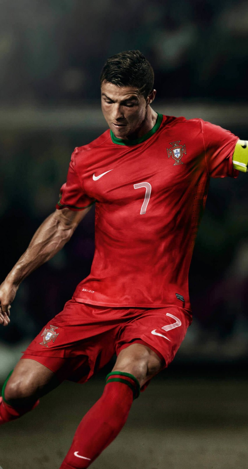 Cristiano Ronaldo In Portugal Jersey Wallpaper for Apple iPhone 6 / 6s