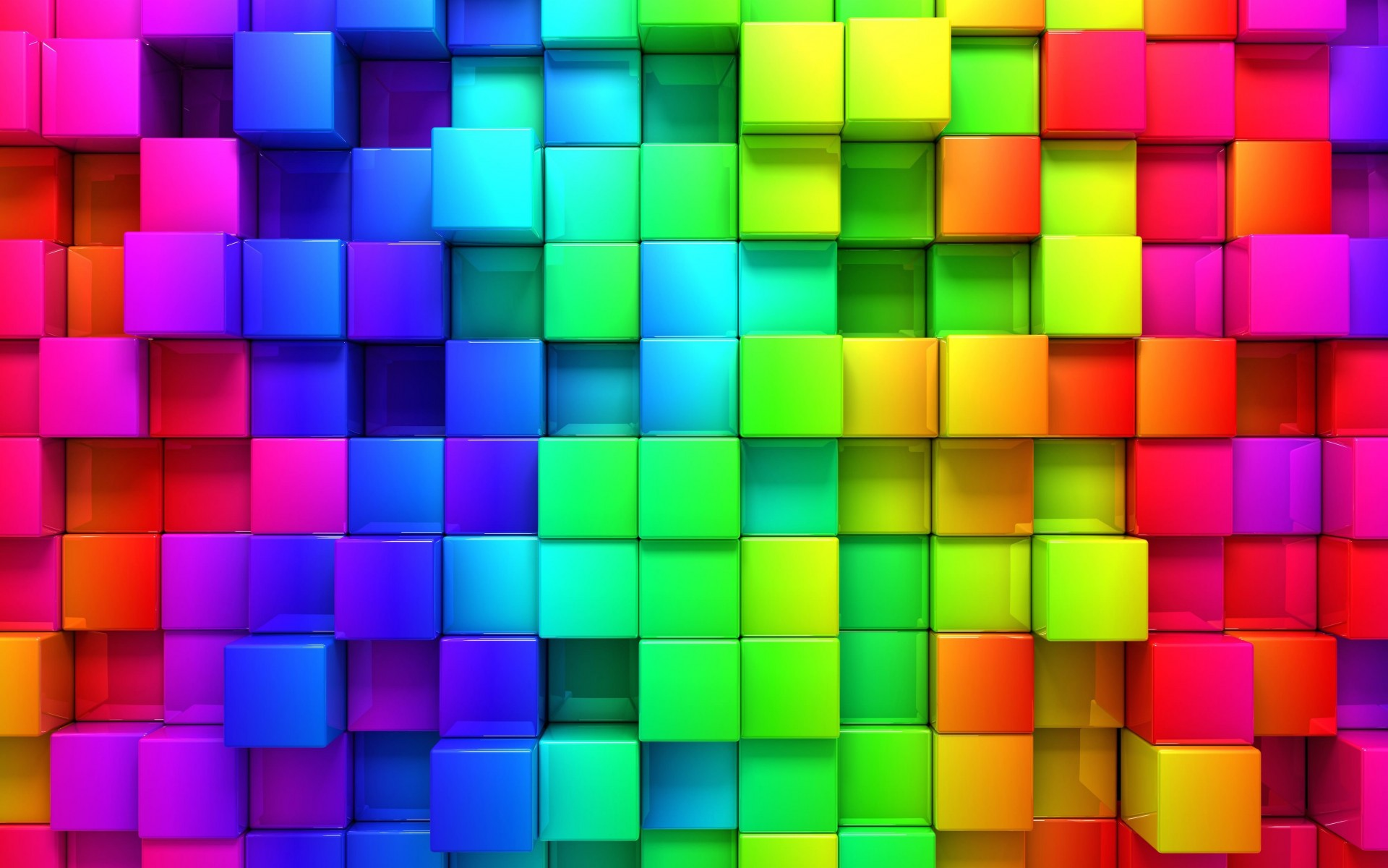 Cubic Rainbow Wallpaper for Desktop 1920x1200