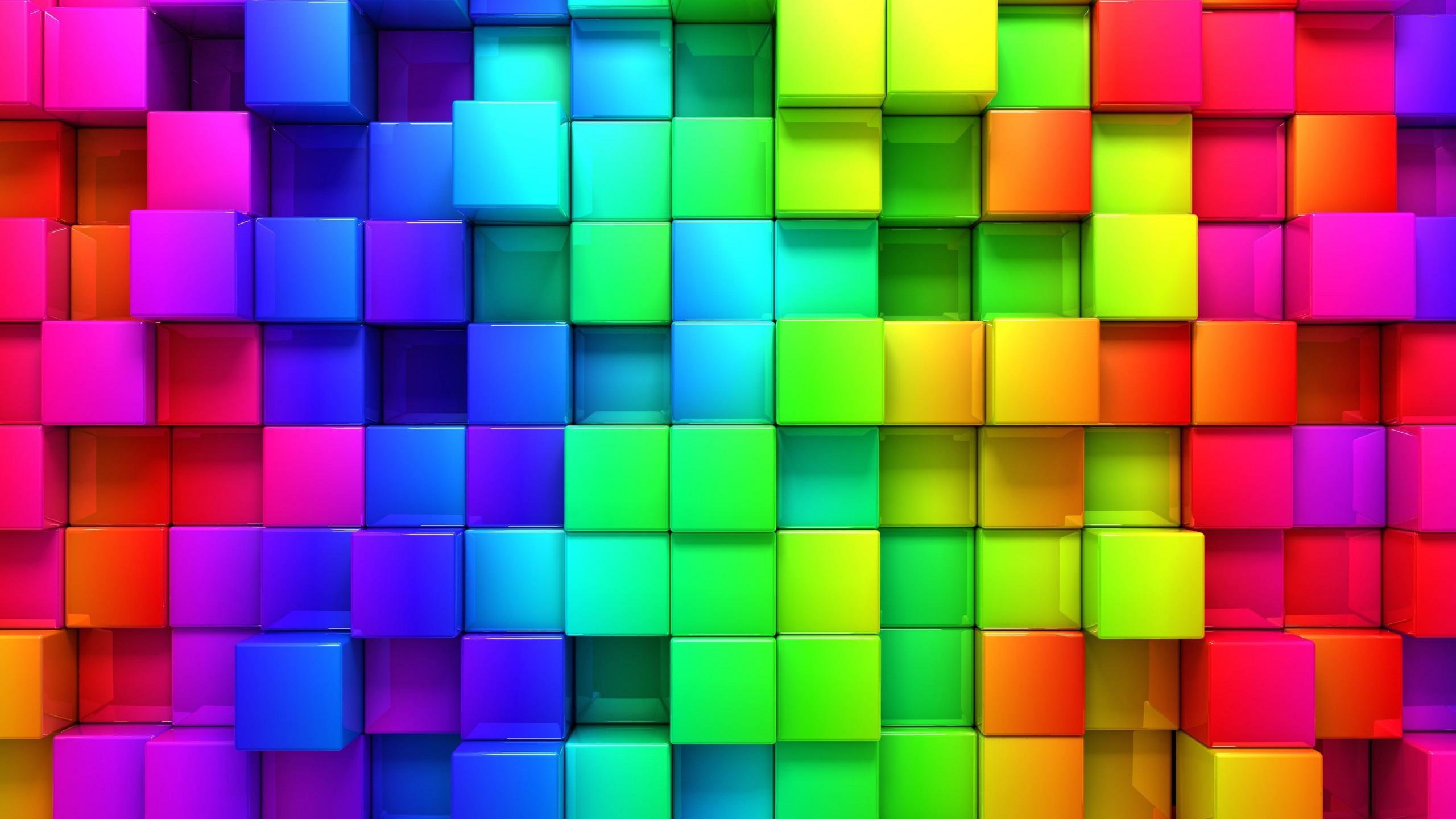 Cubic Rainbow HD wallpaper for 2560x1440 screens ...