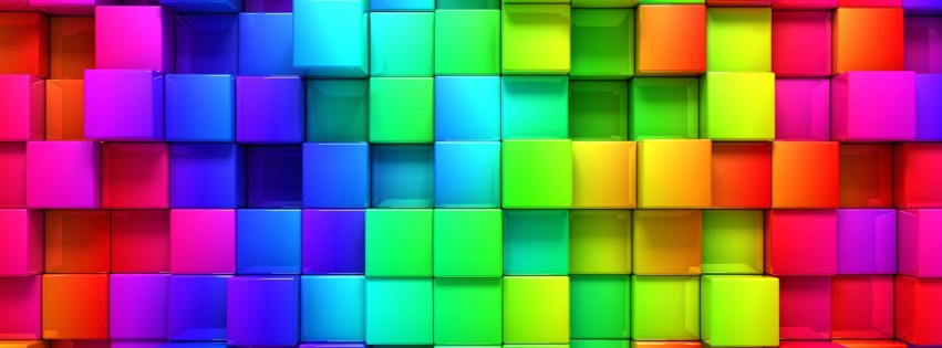 Cubic Rainbow Wallpaper for Social Media Facebook Cover