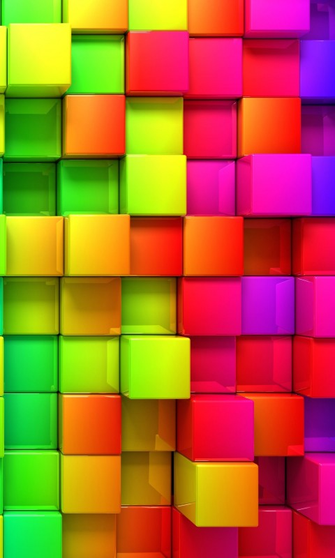 Cubic Rainbow Wallpaper for HTC Desire HD