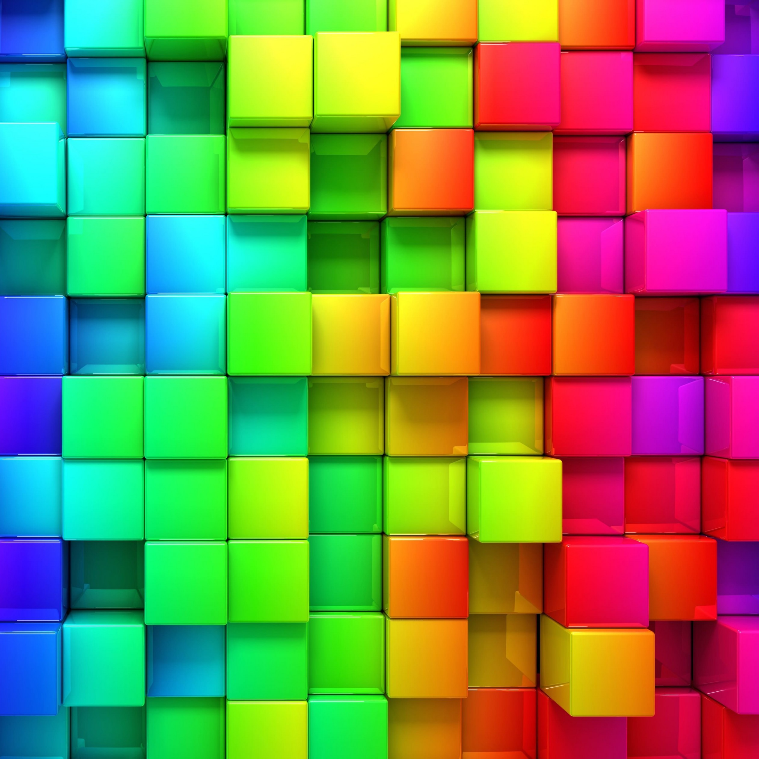Cubic Rainbow Wallpaper for Apple iPad 3