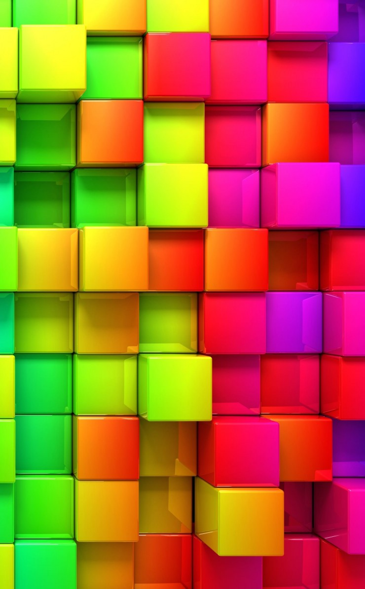 Cubic Rainbow Wallpaper for Apple iPhone 4 / 4s