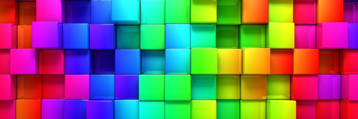 Cubic Rainbow Wallpaper for Social Media Twitter Header