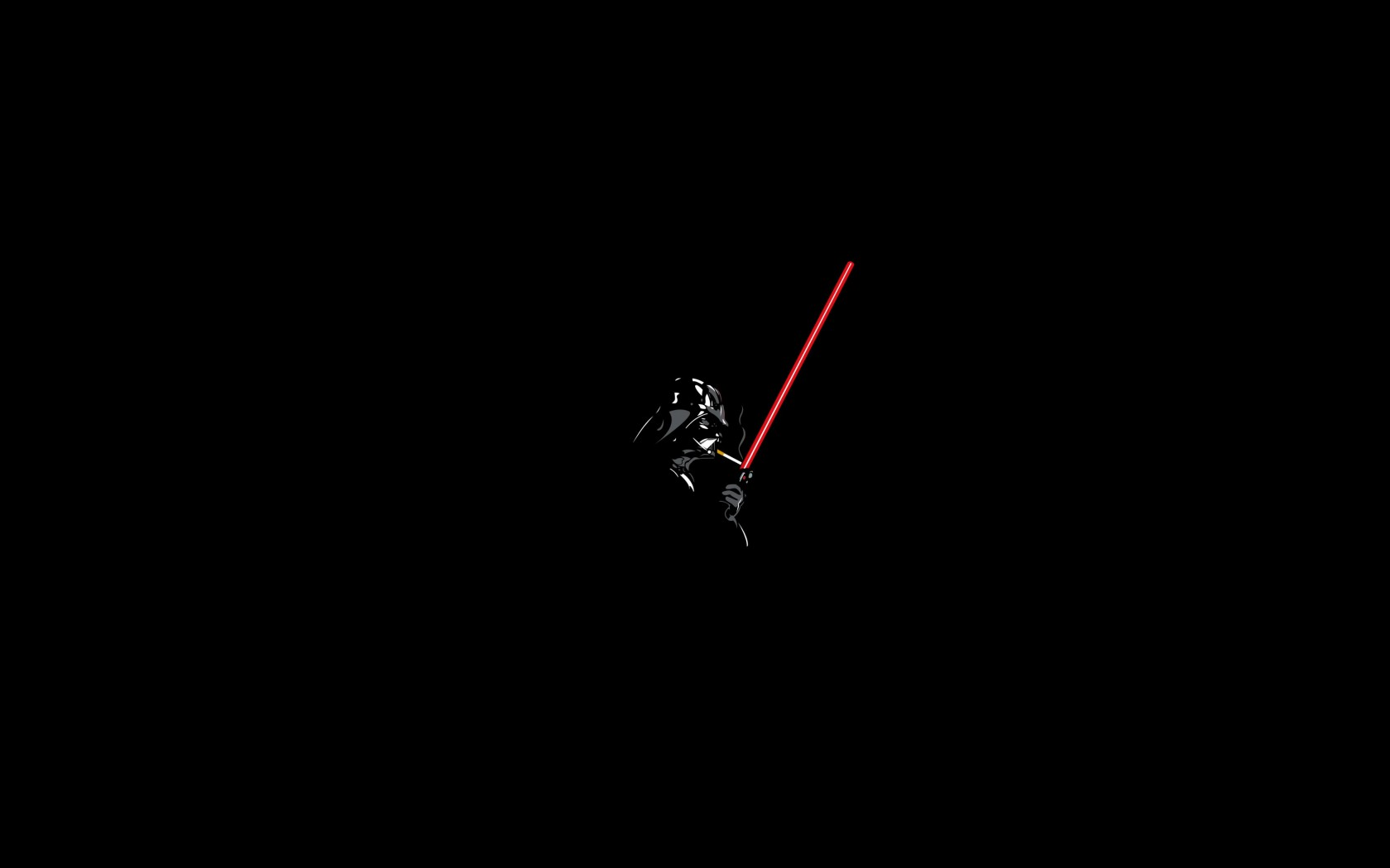 Darth Vader Lighting a Cigarette Wallpaper for Desktop 1680x1050