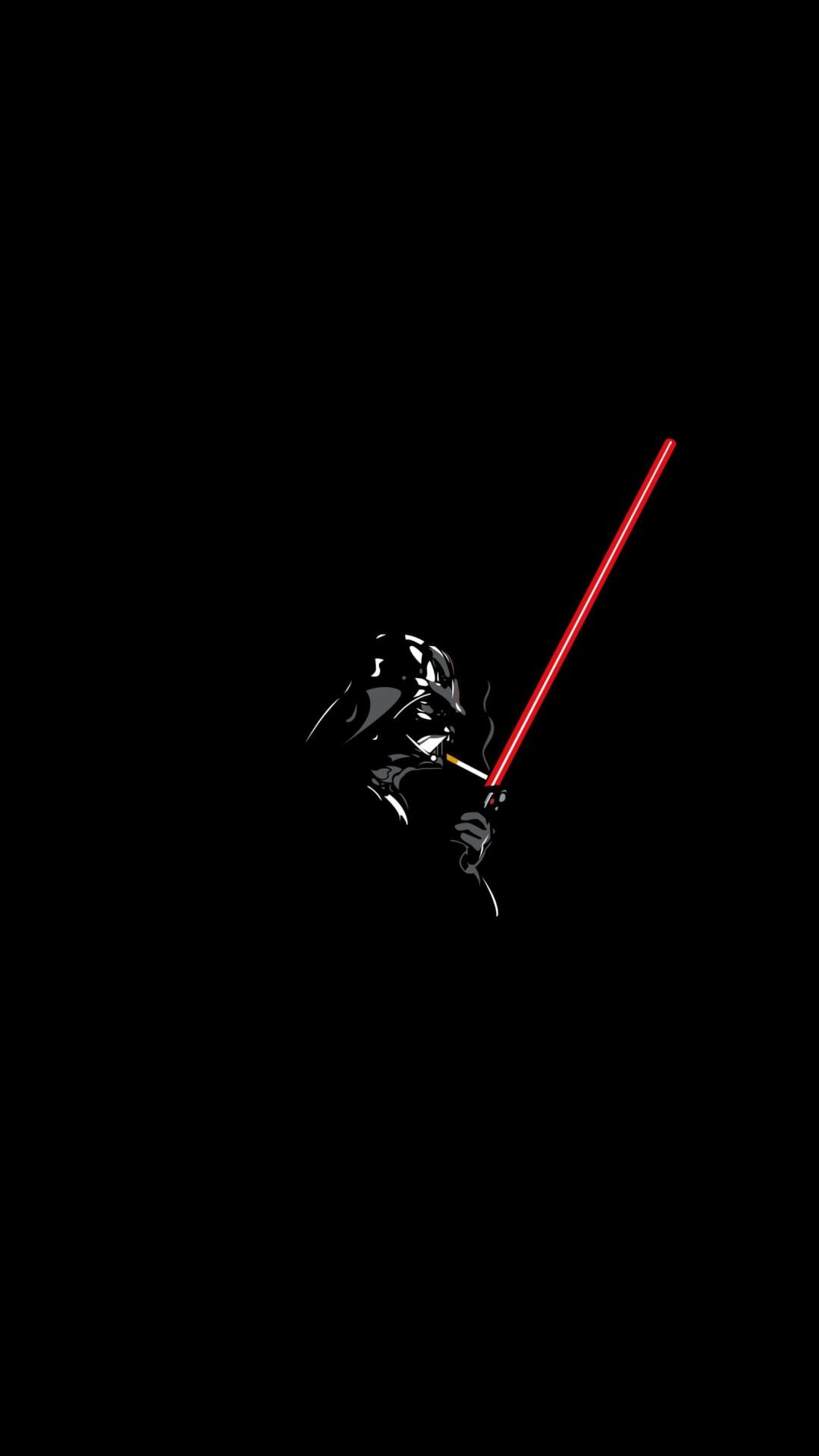 Darth Vader Lighting Cigarette