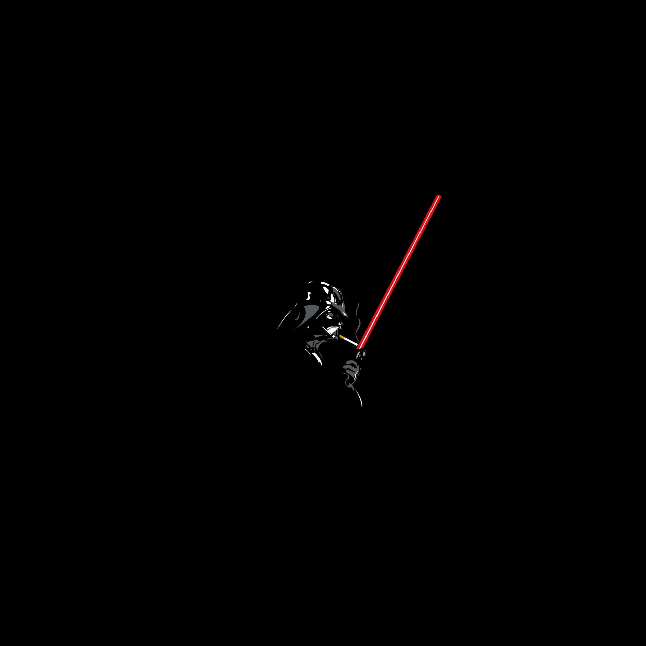 Darth Vader Lighting a Cigarette Wallpaper for Apple iPad 4